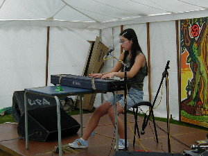 yuki playing at St Werburgh's Festival